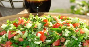 Çoban salatı - Tomato and cucumber salad