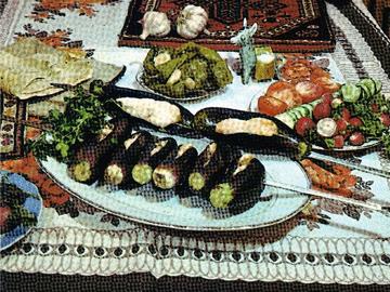 Badimjan kababi - Aubergine kebabs