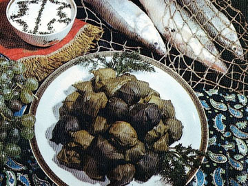Baliq dolmasi - vine leaves stuffed with fish