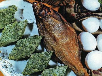 Baliq kutusu - Smoked fish and herb omelette