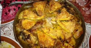 Chighirtma plov - Chicken and egg pilaf