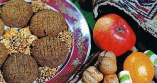 Gülablı qovut - Rose and walnut biscuits
