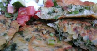 Kartof kukusu - Potato and herb omelette