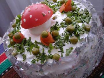 Paytakht salati - Potato, pea and egg salad