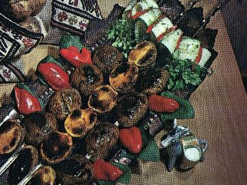 Potatoes shashlyk