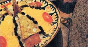 Shashandaz plov - Pilaf with omelette