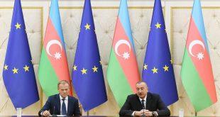 Ilham Aliyev and Donald Tusk