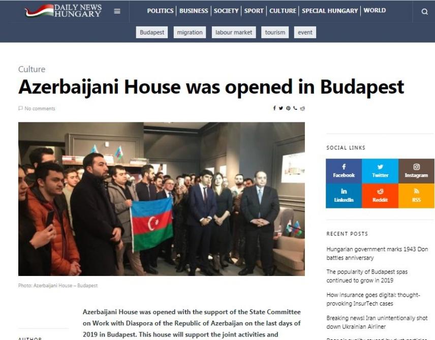 Azerbaijan and Budapest