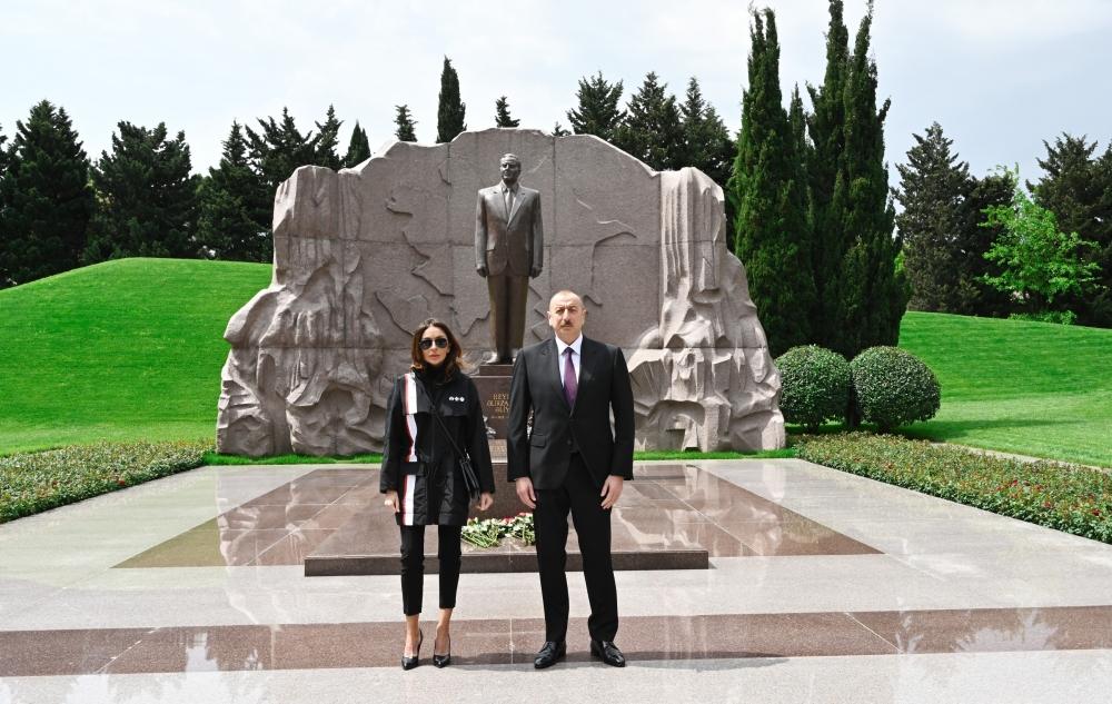 President Ilham Aliyev and first lady Mehriban Aliyeva