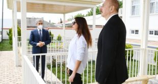 Azerbaijani President Ilham Aliyev, First Lady Mehriban Aliyeva