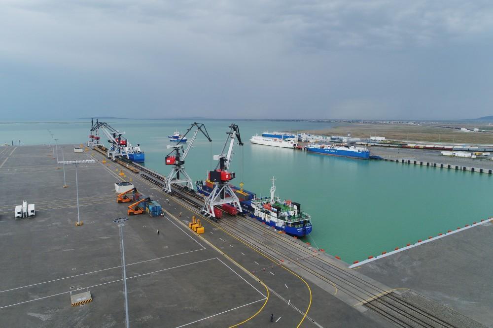 Baku international sea trade port