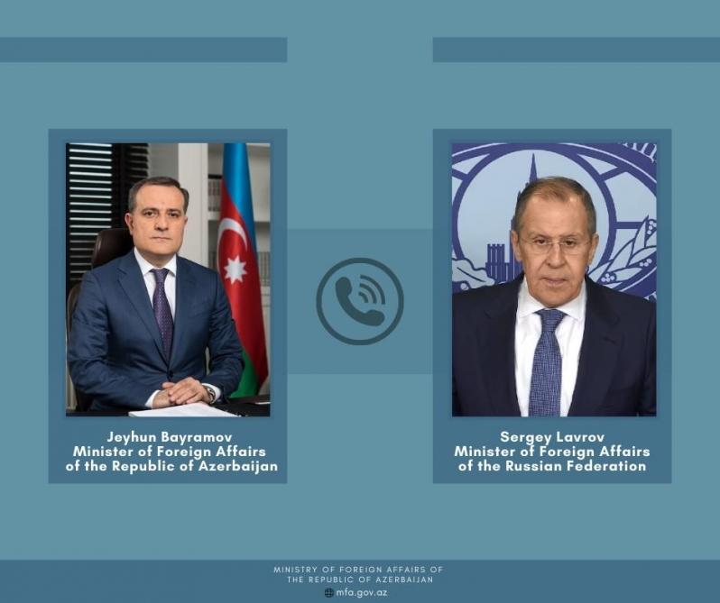 Azerbaijan, Russian FMs