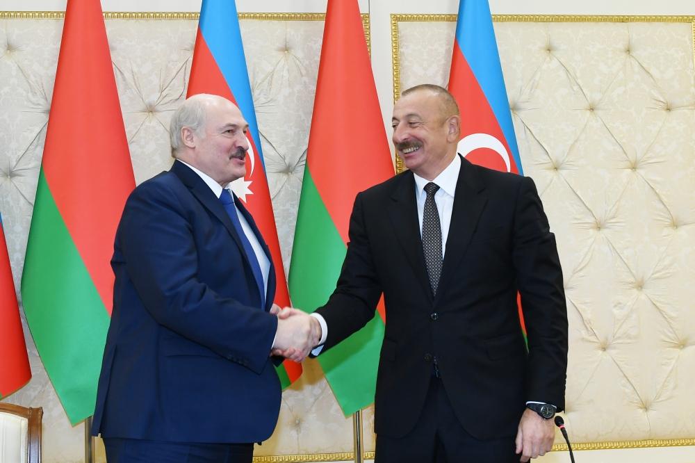 Azerbaijani President  Ilham Aliyev-President of the Republic of Belarus Alexander Lukashenko