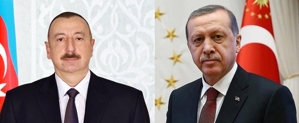 İlham Aliyev and Recep Tayyip Erdogan