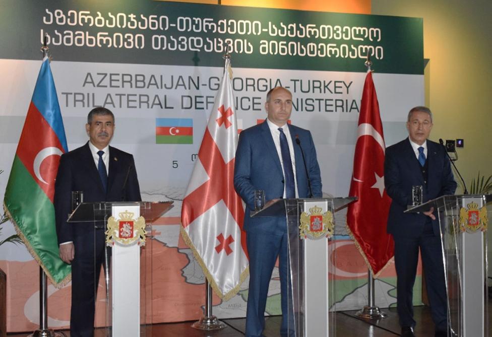 Azerbaijani, Turkish and Georgian defense ministers