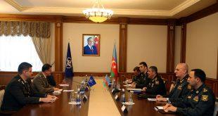 Azerbaijani defense minister meets with NATO representative